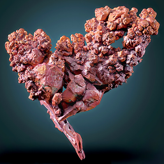 Sharp Native Copper Specimen w Colorful Matrix found in Keweenaw Michigan